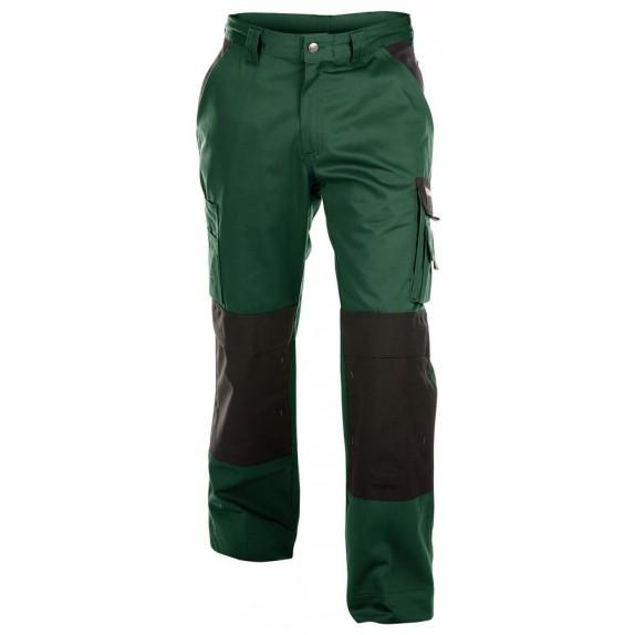 Dassy Boston werkbroek met kniezakken Groen/Zwart - 245 g/m²