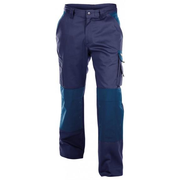 Dassy Boston werkbroek met kniezakken Marineblauw/Korenblauw