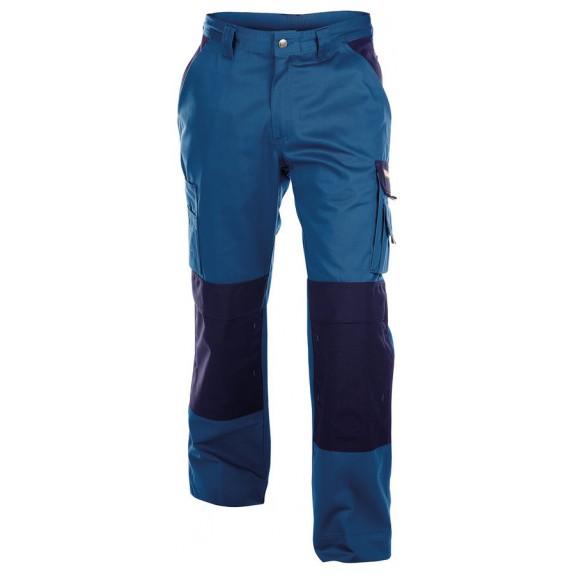 Dassy Boston werkbroek met kniezakken Korenblauw/Marineblauw