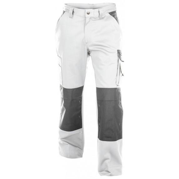 Dassy Boston werkbroek met kniezakken Wit/Grijs