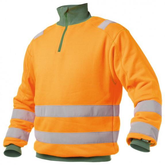 Dassy Denver Hoge zichtbaarheidssweater Oranje/Groen