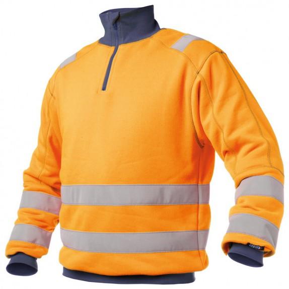 Dassy Denver Hoge zichtbaarheidssweater Oranje/Marineblauw