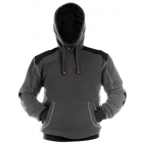 Dassy Indy Sweatshirt hoodie versterkt met canvas DNA Grijs/Zwart