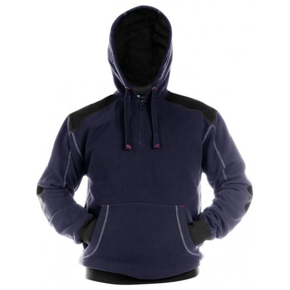 Dassy Indy Sweatshirt hoodie versterkt met canvas DNA Marineblauw/Zwart