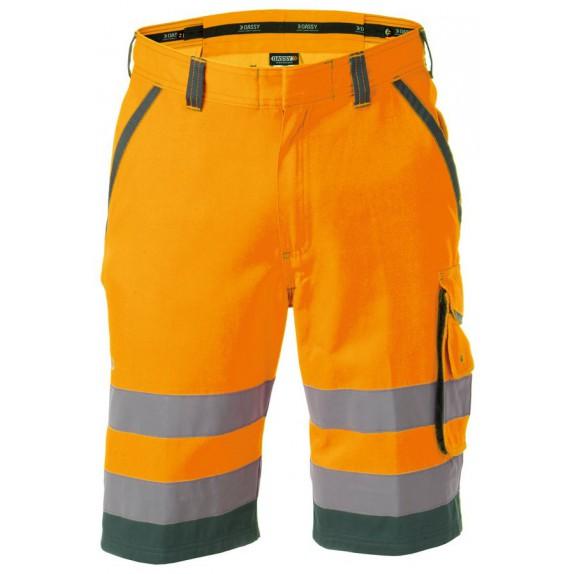 Dassy Lucca Hoge zichtbaarheidswerkshort Oranje/Groen