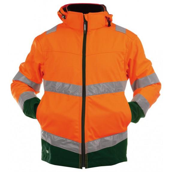 Dassy Malaga Hoge zichtbaarheidssoftshell vest Oranje/Groen