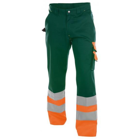 Dassy Omaha Hoge zichtbaarheidswerkbroek Groen/Oranje