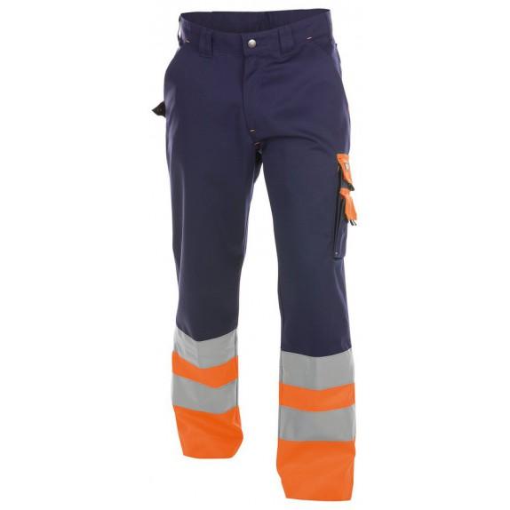 Dassy Omaha Hoge zichtbaarheidswerkbroek Marineblauw/Oranje