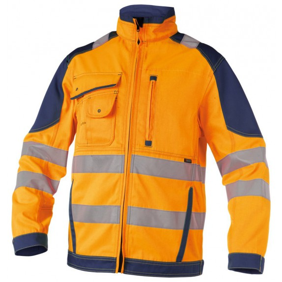 Dassy Orlando Hoge zichtbaarheidswerkvest Oranje/Marineblauw