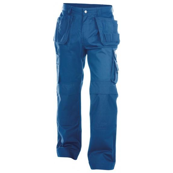 Dassy Oxford Multizakkenbroek met kniezakken Korenblauw