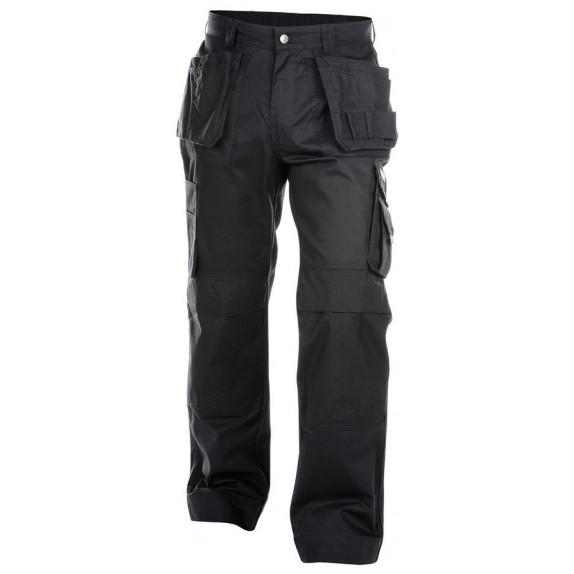 Dassy Oxford Multizakkenbroek met kniezakken Zwart - 245 g/m²