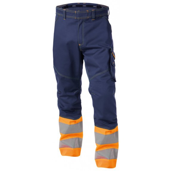 Dassy Phoenix Hoge zichtbaarheidswerkbroek Marineblauw/Oranje