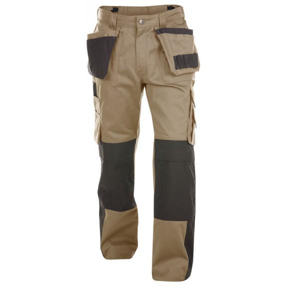 Dassy Seattle multizakkenbroek met kniezakken Beige/Zwart 245gr