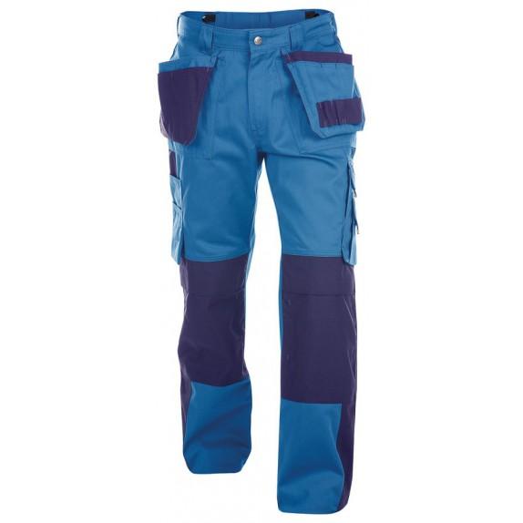 Dassy Seattle multizakkenbroek met kniezakken Korenblauw/Marineblauw 300gr