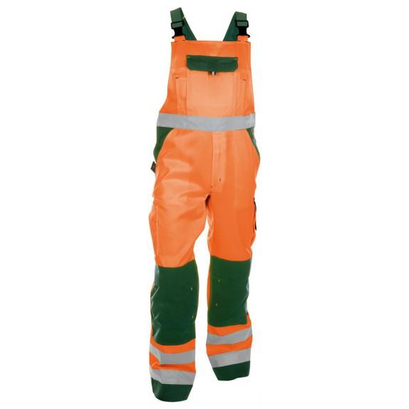 Dassy Toulouse Hoge zichtbaarheidsbretelbroek met kniezakken Oranje/Groen