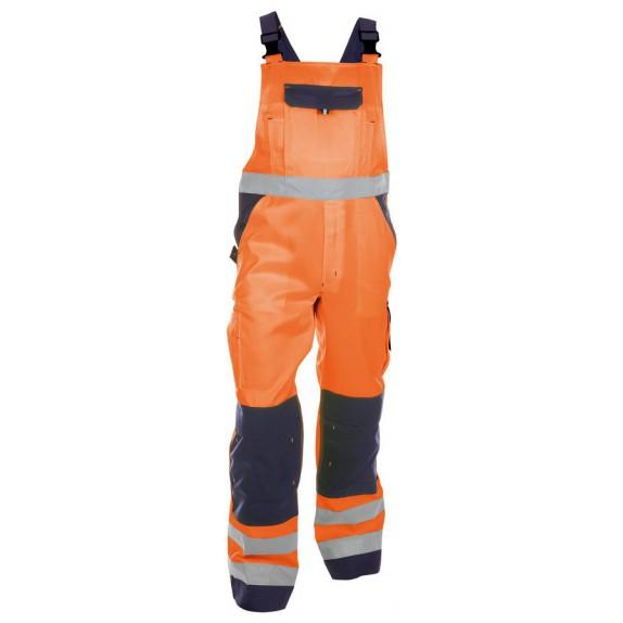 Dassy Toulouse Hoge zichtbaarheidsbretelbroek met kniezakken Oranje/Marineblauw