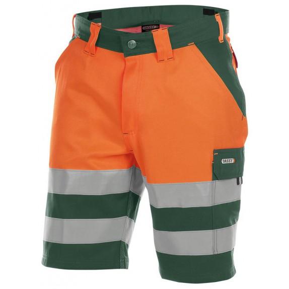 Dassy Venna Hoge zichtbaarheidswerkshort Groen/Oranje
