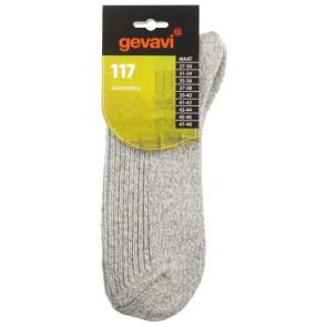 Gevavi 117 schapenwollensok lichtgrijs