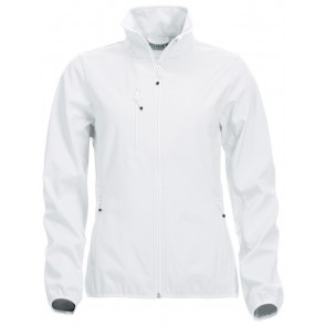 Clique Basic Softshell Jas Dames Wit