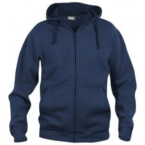 Clique Basic hoody full zip Donker Navy