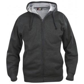 Clique Basic hoody full zip Antraciet Melange