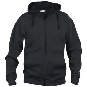 Clique Basic hoody full zip Zwart