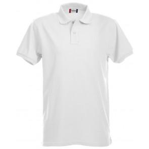 Clique Premium Heren Polo Wit