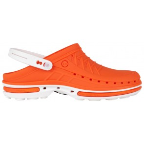 Wock Clog 05 2564-05 Klompen Wit/Oranje