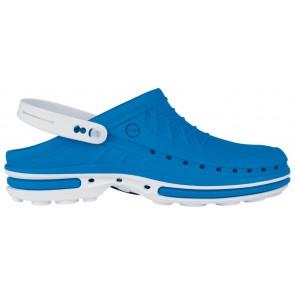 Wock Clog 07 2564-07 Klompen Wit/midden blauw