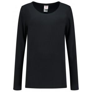 Tricorp 101010 T-Shirt Lange Mouw Dames Zwart