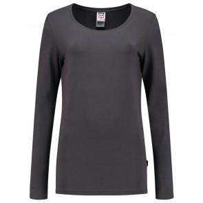 Tricorp 101010 T-Shirt Lange Mouw Dames Donkergrijs