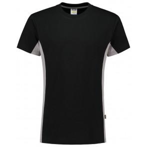 Tricorp 102004 T-Shirt Bicolor Zwart/Grijs