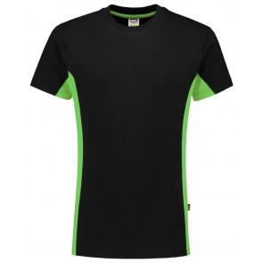 Tricorp 102004 T-Shirt Bicolor Zwart/Lime