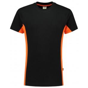 Tricorp 102004 T-Shirt Bicolor Zwart/Oranje