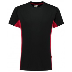 Tricorp 102004 T-Shirt Bicolor Zwart/Rood