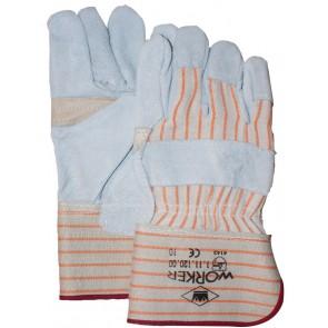 A-kwaliteit splitlederen handschoen palmversterking maat 10