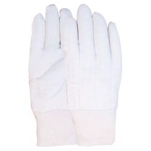 Jersey handschoen van 100% katoen écru gewicht 369 gram maat 10