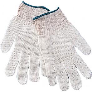 Rondgebreide polyester/katoen handschoen