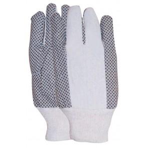 Polkadot handschoen met zwarte PVC nopjes gewicht 227 gram maat 10
