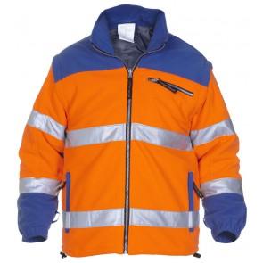 Hydrowear Fulda Fleecejack Oranje/Kobalt