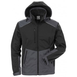 Fristads Softshell winterjack 4060 CFJ Zwart/grijs