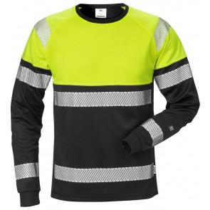 Fristads High vis T-shirt met lange mouwen klasse 1 7519 THV Hi-Vis geel/zwart