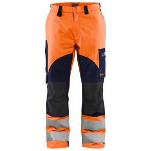 Blåkläder 1588-1513 Multinorm inherent werkbroek High Vis Oranje/Marineblauw