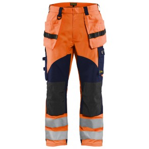 Blåkläder 1589-1513 Multinorm inherent werkbroek High Vis Oranje/Marineblauw
