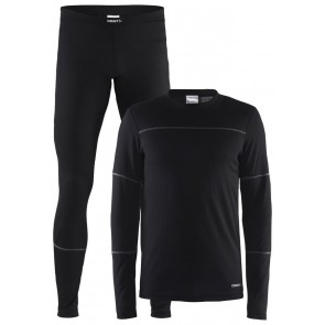 Craft Baselayer Set Heren Zwart/Donkerblauw