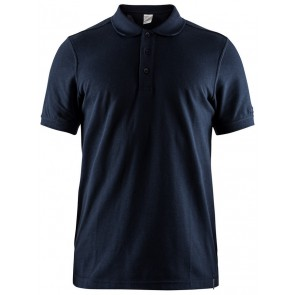 Craft Casual Polo Pique Heren Donkerblauw