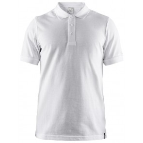 Craft Casual Polo Pique Heren Wit