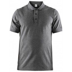 Craft Casual Polo Pique Heren Donkergrijs