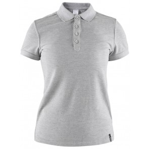 Craft Casual Polo Pique Dames Grijs