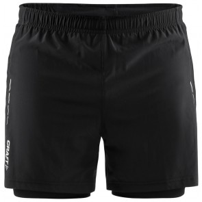 Craft Essential 2-In-1 Shorts Heren Zwart